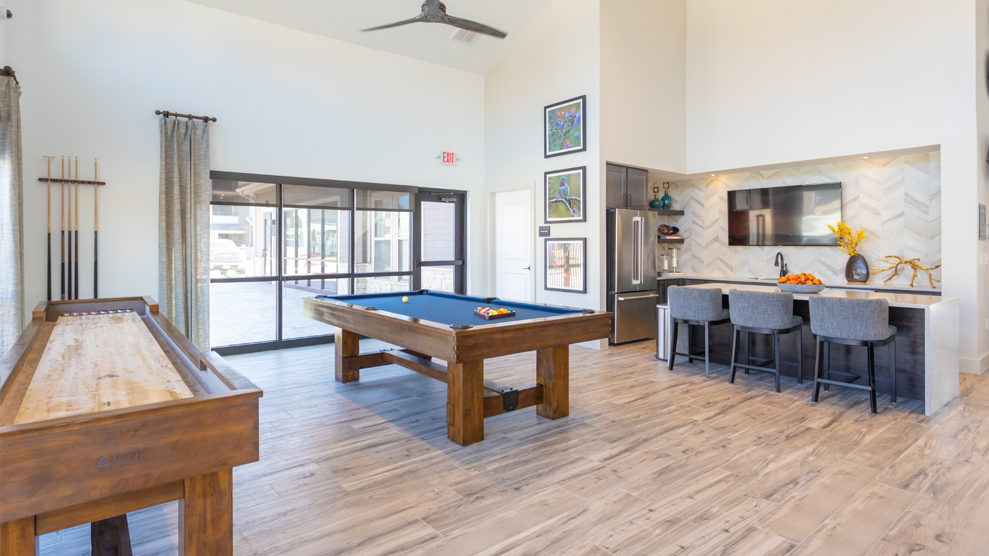apartment, amenity, games room